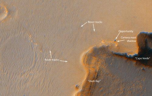 MER-B tuż obok  krateru Victoria