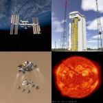 Symbole 2012 roku? ISS, Vega, MSL oraz aktywność słoneczna / Credits - NASA, ESA, JPL, SDO