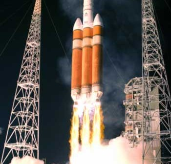 Start rakiety Delta IV Heavy, Credits: United Space Alliance