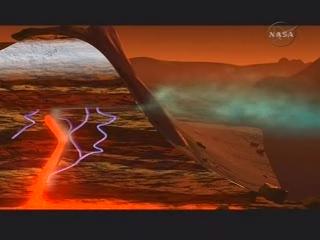 Wulkaniczne pochodzenie  metanu? (NASA TV)