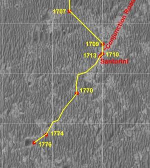 Trasa łazika Opportunity, Credits: Eduardo Tesheiner/NASA/JPL/UA