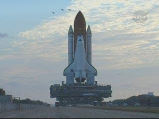 Transport STS-119, Credits: NASA TV