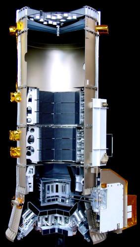 Przekrój urządzenia SPI zbudowanego na potrzeby satelity Integral (ESA)