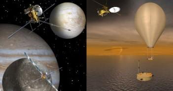 Wizje artystyczne misji EJSM i TSSM / Credits - NASA, JPL