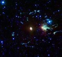 Mgławica Kocie Oko. Cred. NASA/JPL-Caltech/J. Hora (Harvard-Smithsonian CfA)