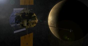 Wizualizacja sondy Messenger / Credits: NASA, JPL