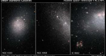 Galakatyki karłowate na brazie z ACS (Cred. NASA/ESA/STScI)