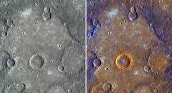 Przykład równin w barwach naturalnych i wzmocnionych. Cred. NASA