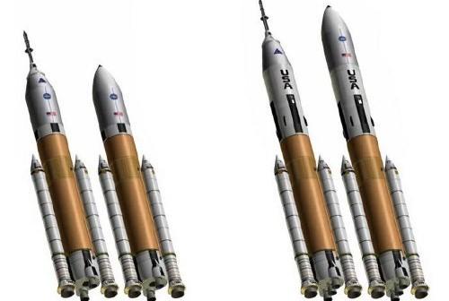 Rakiety serii Jupiter (v 2.0). Najnowsza proponowana wersja używa silników SSME / Credits - DIRECT team