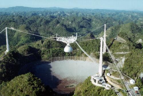 Radioteleskop Arecibo / courtesy of the NAIC - Arecibo Observatory, a facility of the NSF