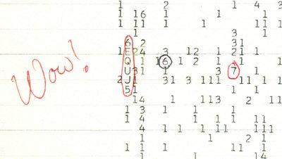 Sygnał Wow /  Credits - SETI