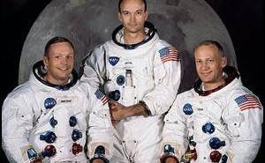 Załoga misji Apollo 11. Od lewej - Armstrong, Collins, Aldrin / Credits - NASA
