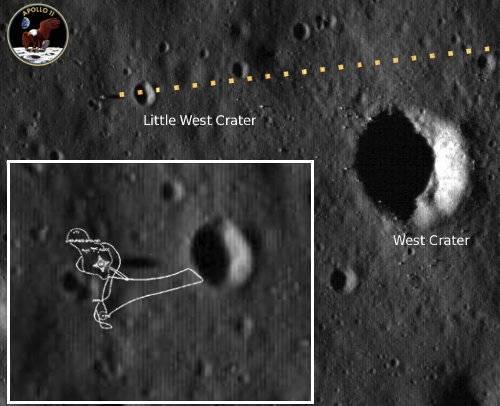 Końcowa trajektoria podchodzenia do lądowania Orła / Credits - NASA, Krzysztof Kajda
