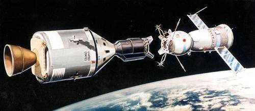Wizja  artystyczna misji Apollo - Sojuz / Credits - NASA