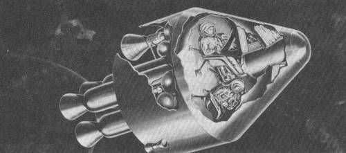 Jedna z wczesnych koncepcji statku Apollo / Credits - NASA