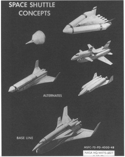 Wstępne koncepcje promu kosmicznego / Credits - NASA
