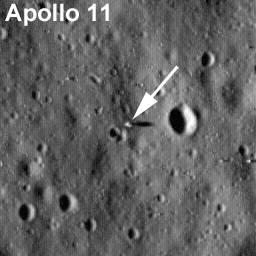 Lądowisko misji Apollo 11 / Credits - NASA/Goddard Space Flight Center/Arizona State University