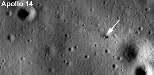 Lądowisko misji Apollo 14 / Credits - NASA/Goddard Space Flight  Center/Arizona State University