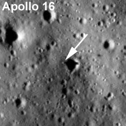 Lądowisko misji Apollo 16 / Credits - NASA/Goddard Space Flight  Center/Arizona State University