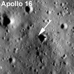 Lądowisko misji Apollo 16 / Credits - NASA/Goddard Space Flight  Center/Arizona State University