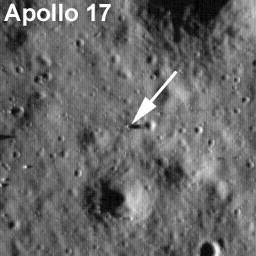 Lądowisko misji Apollo 17 / Credits - NASA/Goddard Space Flight  Center/Arizona State University