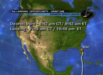 Pierwsze możliwe podejście do lądowania dla misji STS-127 / Credits - NASA
