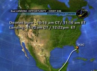 Drugie możliwe podejście do lądowania dla misji STS-127 / Credits - NASA