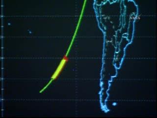 Godzina 16:20 CEST - prom nad południowym Pacyfikiem / Credits - NASA TV