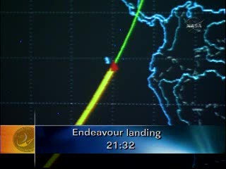 Wyspy Galapagos i Endeavour - godzina 16:28 CEST / Credits - NASA TV