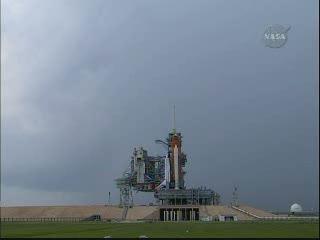 Obecna pogoda nad platformą LC-39A / Credits - NASA TV