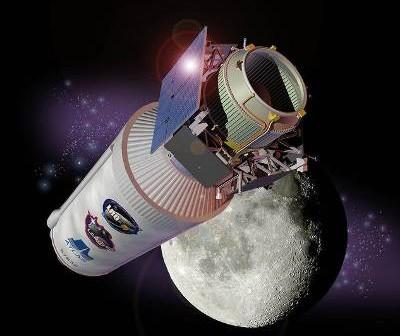 Sonda LCROSS i stopień Centaur / Credits - JPL