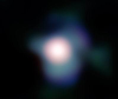 Obraz tarczy Betelgezy uzyskany za pomocą instrumentu NACO. Cred ESO, P. Kervella.