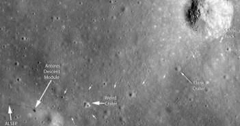 Trasa przebyta przez astronautów Apollo 14 (NASA)