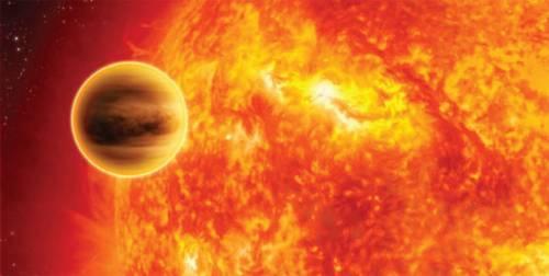 Wizja artystyczna gorącego Jowisza (WASP-18b) (C. CARREAU/ESA/Nature)