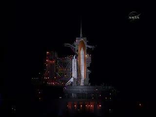 Platforma startowa około godziny 05:20 CEST / Credits - NASA TV