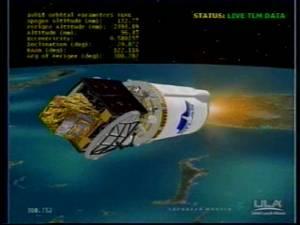Start rakiety Atlas V z satelitą PAN na pokładzie / Credits - United Space Aliance webcast