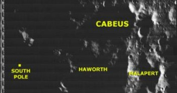 Krater Cabeus - tam uderzył Centaur / Credits - NASA, Lunar Orbiter Image Recovery Project