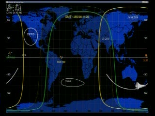 02:14 CEST - Discovery nad południowym Pacyfikiem / Credits - NASA TV
