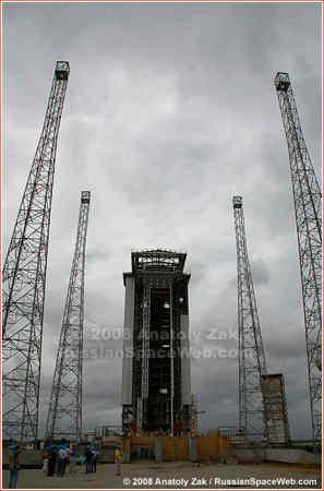 Wyrzutnia ELA-1 przeznaczona  dla rakiety Vega, credits: Anatoly Zak / RussianSpaceWeb.com