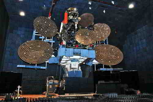 Satelita NSS-12 podczas testów, credits: Space Systems/Loral