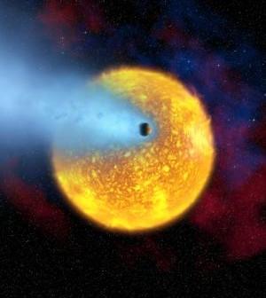 Prawdopodobny wygląd KELT-3 b / Credits - NASA, ESA, HST