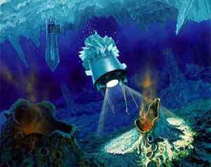 Wizja sondy badającej ocean Europy