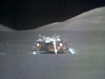 Pozostawiona na Księżycu, dolna część pojazdu LEM, credits: NASA