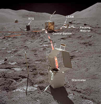 Zdjęcie stacji centralnej wykonane na Księżycu, credits: NASA
