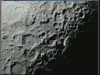 Godzina   13:21 CEST - Księżyc z LCROSS / Credits - NASA TV