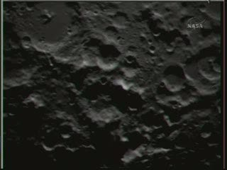 13:29 CEST -   widok z LCROSS / Credits - NASA TV