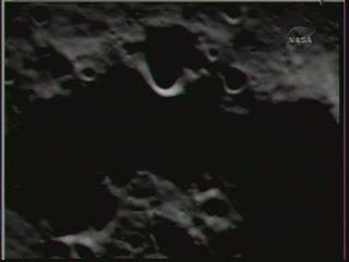 Jedno z   ostatnich zdjęć przed uderzeniem w Księżyc - Credits NASA TV