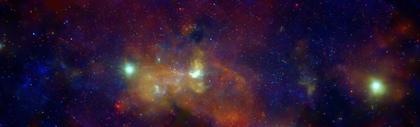 Mozaika centralnego regionu Drogi Mlecznej. Cred NASA/CXC/UMass/D. Wang et al.
