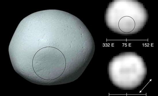 Model planetoidy Pallas oraz obrazy uzyskane przez teleskop Hubble'a, credits: NASA
