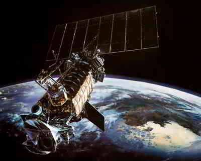 Satelita DMSP F18, credits: Lockheed Martin